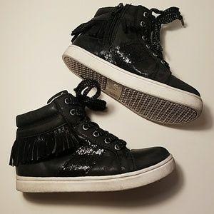 Circo kids black fringe shoes size 11